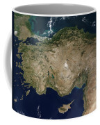 Satellite View Of Turkey And The Island Coffee Mug
