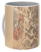 Satellite View Of Wadi Rum Coffee Mug