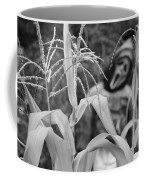 Scarecrow In The Corn Black And White Coffee Mug