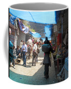 Scene At The Climbing Path Leading To The Vaishno Devi Shrine In Jammu And Kashmir State In India Coffee Mug