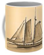 Scenic Schooner - Sepia Coffee Mug