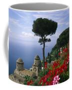Scenic View Of Villa Rufolo Terrace Coffee Mug