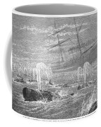 School Of Whales, 1876 Coffee Mug