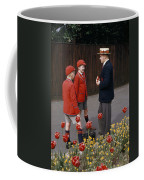 Schoolboys Chat With A Master At Kings Coffee Mug by Franc Shor
