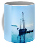 Schooner At Dock Bar Harbor Me Coffee Mug