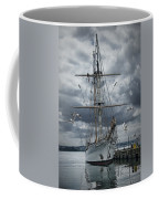 Schooner In Halifax Harbor Coffee Mug