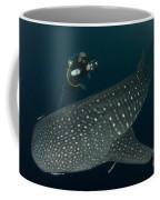 Scuba Diver And Whale Shark, Papua Coffee Mug