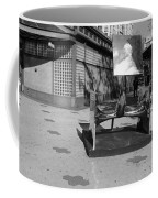 Scuptures On The Corner In Black And White Coffee Mug