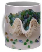 Sea Glass In Clam Shell - No 1 Coffee Mug
