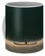 Sea Kayak Silhouette On Potomac River Coffee Mug by Skip Brown