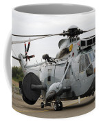 Sea King Helicopter Of The Royal Navy Coffee Mug by Luc De Jaeger