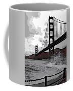 Sea Spray Under The Golden Gate Bridge Coffee Mug