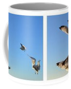 Seagull Collage Coffee Mug by Michelle Calkins