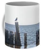 Seagull On A Post Coffee Mug
