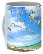 Seagulls At Worthing Sussex Coffee Mug