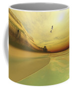 Seagulls Fly Near The Mountains Of This Coffee Mug by Corey Ford