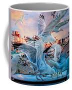 Seagulls On Brighton Pier Coffee Mug
