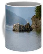 Seagulls On Rock Coffee Mug