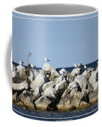 Seaguls On Boulders In Lake Erie Coffee Mug