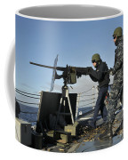 Seaman Fires A .50 Caliber Machine Gun Coffee Mug