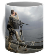 Seaman Scans The Ocean Coffee Mug