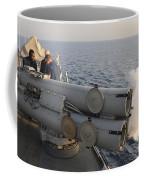 Seamen Fire An Air Slug From A Mk-32 Coffee Mug