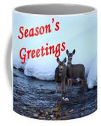 Seasons Greetings Deer Coffee Mug