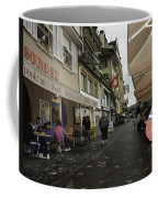 Seated In The Cafe Along The River In Lucerne In Switzerland Coffee Mug