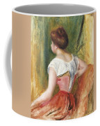 Seated Young Woman Coffee Mug by Pierre Auguste Renoir