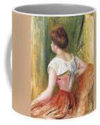 Seated Young Woman Coffee Mug