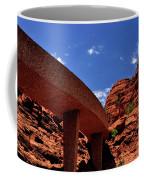 Sedona Man Vs Rock Contrast Coffee Mug