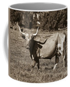 Sepia Longhorn Cow Coffee Mug
