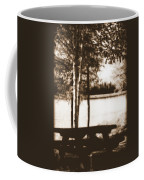 Sepia Picnic Table Coffee Mug
