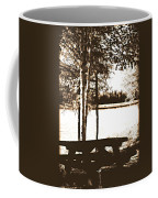 Sepia Picnic Table Ll Coffee Mug