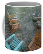 Several Lawn Chairs Scattered Coffee Mug