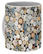 Sewing - Buttons - Lots Of White Buttons Coffee Mug