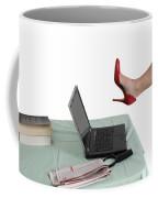 Sexy Woman Kicks A Laptop  Coffee Mug