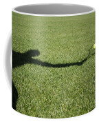 Shadow Playing Tennis Coffee Mug