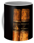 Shakespeare Leather Bound Books Coffee Mug