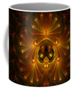 Shattered Five Leaf Clover Abstract Coffee Mug