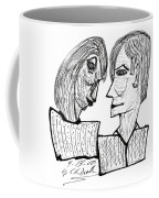 She And He Pen And Ink 2000 Coffee Mug