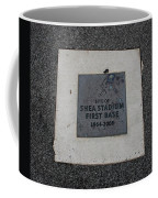 Shea Stadium First Base Coffee Mug by Rob Hans