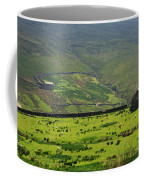 Sheep Graze In A Pasture In Swaledale Coffee Mug