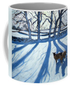 Sheep In Snow Coffee Mug
