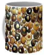 Shell Background Coffee Mug by Carlos Caetano