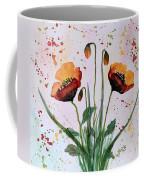 Shining Red Poppies Watercolor Painting Coffee Mug