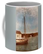 Ship At Dock Coffee Mug