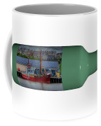 Ship On A Bottle With White Coffee Mug