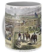 Shipping Cattle, 1877 Coffee Mug