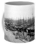 Ships In Harbour 1900 Coffee Mug